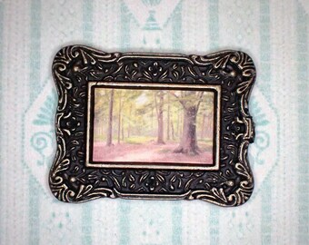 Miniature 1:12 Dollhouse Painting - Johan Krouthén - The Forest