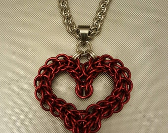 Valentine Heart Pendant with Chain