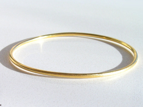 grams bangle golf pin ladies bracelet solid round yellow gold