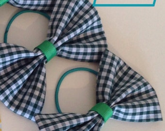 Back to school gingham hair bows!