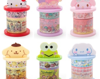 Sanrio Masking Tapes with Holder