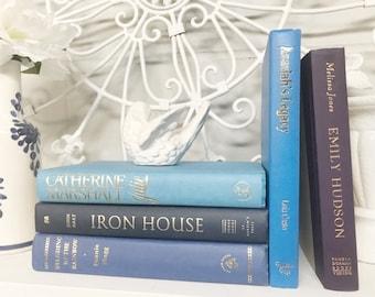 Blue Decorative Book Set