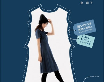"""Let's make """"clothes that look thin"""" Japanese Book patterns clothes One piece tunic coat"""