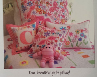 Pretty 'n Pink Pillow Patterns by Don't Look Now-FREE US SHIPPING!