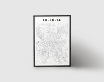 Toulouse Map Print