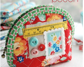 Zipper Pouch PDF Sewing Pattern  in two sizes