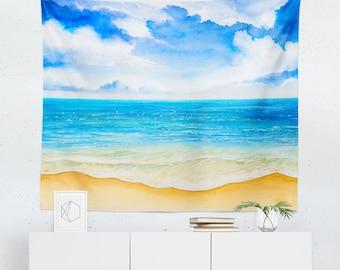 Beach Tapestry | Beach Wall Tapestry | Beach Wall Décor | Beach Gift | Beach Wall Art | Beach Art | Beach Décor