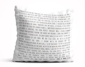 Personalized song lyric pillow, Valentines Day Gift, Song lyrics gift, Throw Pillow, song lyrics pillow, Anniversary Gift idea, gift wife
