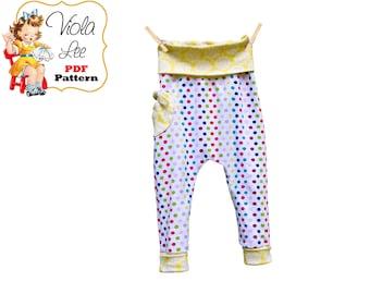 Adalyn Knit Pants Sewing Pattern. Girls Sewing Pattern. Baggy Bottom Pants, Toddler Pants, Baby Pants Pattern, Girls Pants, Instant Download