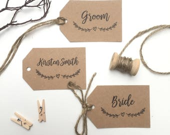 Rustic Wedding Place Name Tags | Place Setting Tag | Wedding Tags | Rustic Tags | Personalised Tags | Gift Tags