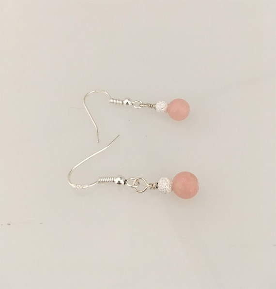 S - 655 Pink opal earrings