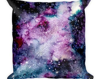 Hand Painted Galaxy Throw Pillow~Space Accent Pillow~Galaxy Art~Galaxy Home Decor~Hand Painted Galaxy~Accent Pillow~Cosmic Home Decor~Space