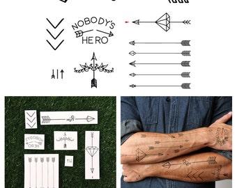 Arrow Set - Temporary Tattoo (Set of 7)