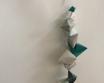 Origami Wall Hanger || Green