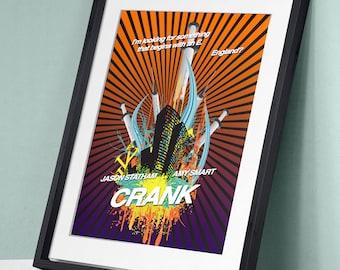 Crank - Jason Statham Amy Smart Dwight Yoakam Chev Chelios Movie Film Poster Art Print Wall Decor Poster Motivational Movie Quote