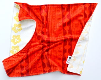 Moana Pacific Islander Baby Toddler Blanket- Moana Blanket- featuring minky and satin edging
