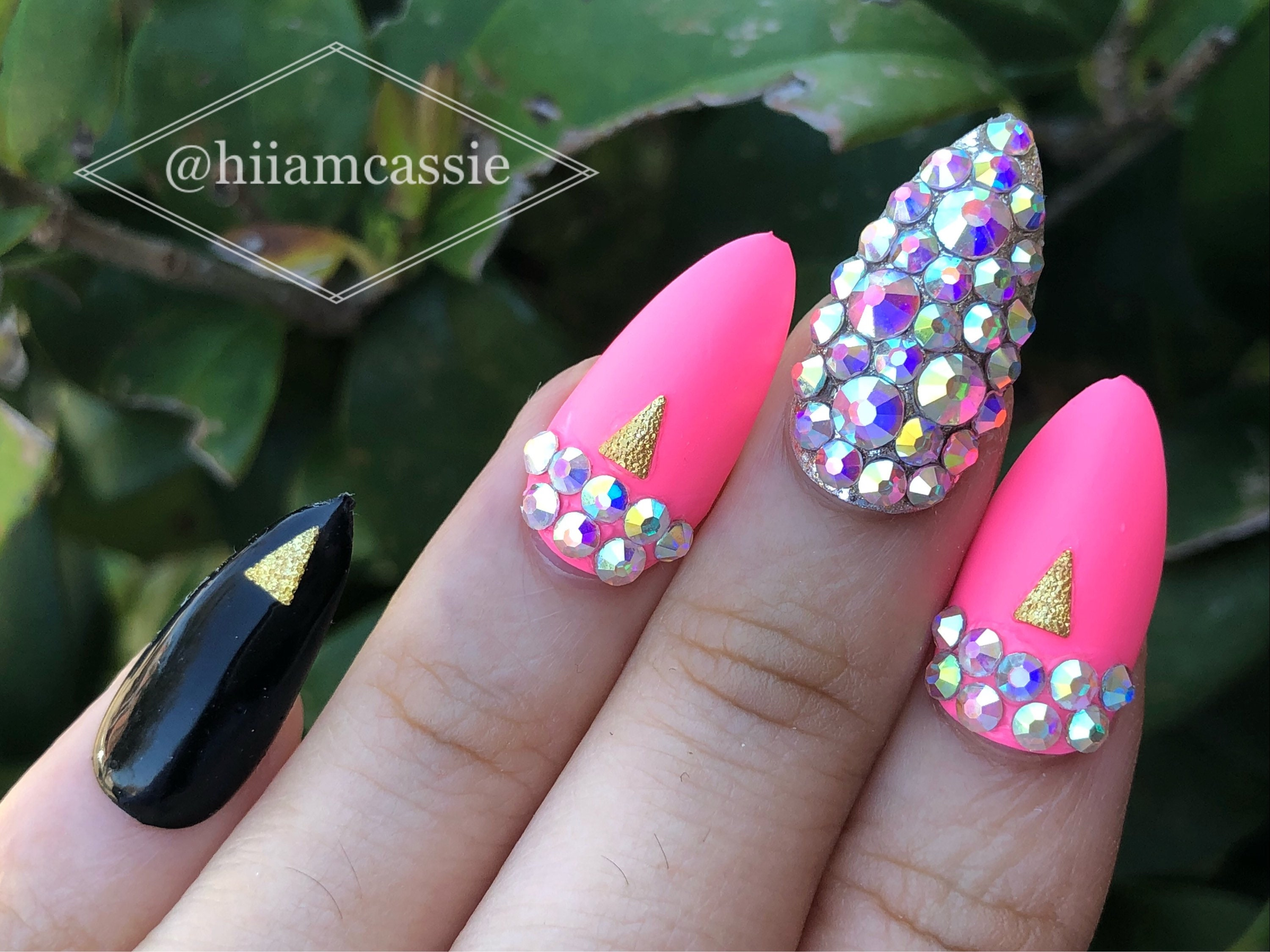 Pink Cosmo | Press on nails | Fake nails | Cute nails | Glue on ...