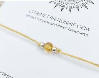 Citrine bracelet, new job gift, wish bracelet, delicate bracelet, power bracelet, bestfriend gift, good luck bracelet, boho bracelet ideas