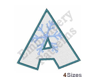 Snowflake Font A - Machine Embroidery Design