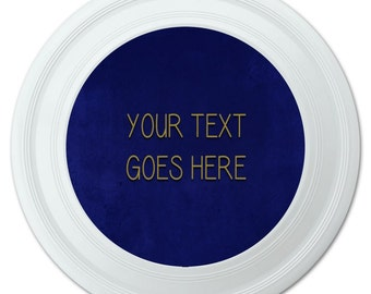 Blue Textured Background Any Occasion Personalized Flying Disc