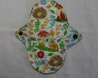 Kiki Mama Cloth Panty Liner Menstrual Pad Rabbit Fox Flower Forest Animals