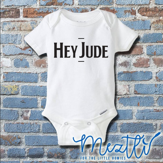 Hey Jude Onesie Beatles Onesies Beatles Baby Clothes
