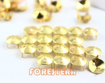 50Pcs 9mm Gold CONE Studs Metal Studs (JHH09)