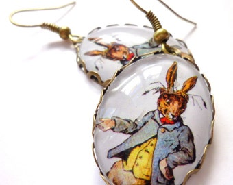 Mad March Hare earrings