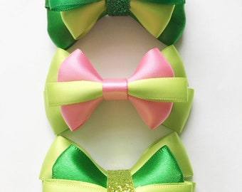 Green hair bow gift set green bow headband for baby baby shower gift gift for new mom hair bow set hair accessory for baby green headband