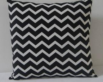 Black and White Chevron  pillow cover, Decorative throw  pillow, pillow cover,Black  Pillow cover, zig zag pillow