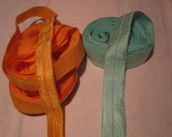 5 Different colors total Fold Over Elastic, 7/8, 5/8 sold together