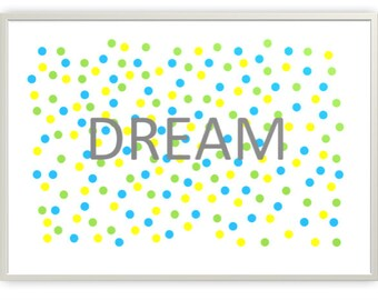Dream in Cool Colours Nursery Printable, Digital Downloads, PDF & JPG Format