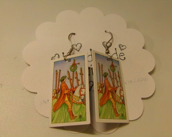 Tarot Card Earrings: Six of Wands