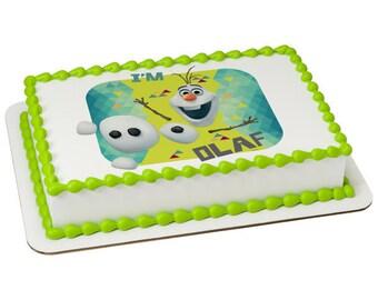 Frozen I'm Olaf Edible Cake Topper