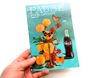 Vintage Mid Century 1960s Coca Cola Pause for Living Booklet Magazine