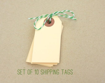 Manila Gift Tags . 10 Mini Tiny Small Cute Shipping Hang Tag . Planner Supplies . Gift Wrap . Journaling Spots . Altered Art Packaging