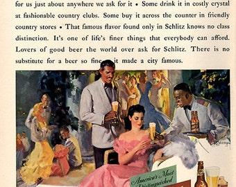 1941 Schlitz Beer Original Alcohol Print Ad