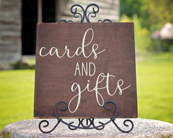 Wood Wedding Cards and Gifts Sign | Wedding Gifts Sign | Wedding Decor | Wood Wedding Sign | Rustic Wedding Decorations | Gift Table Sign
