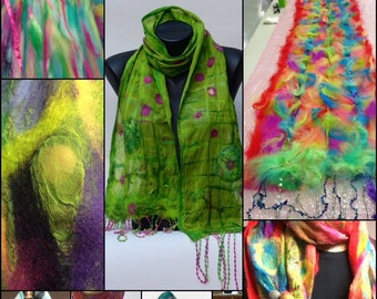 Nuno Felt Scarf Workshop