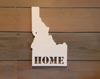 Home State Sign, State Sign, Idaho Sign, Home State Decor, State Pride, Home Sweet Home, Idaho State, Home Decor, Gallery Wall, Idaho Art