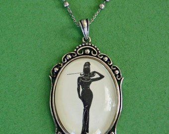 BREAKFAST at TIFFANY'S Necklace, pendant on chain - Silhouette Jewelry