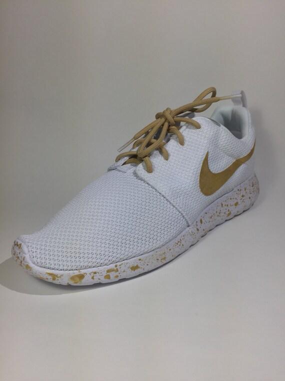 Custom White Nike Roshes