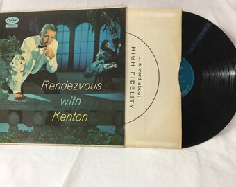 Stan Kenton Rendezvous With Kenton Vintage Vinyl Record Album 33 rpm lp 1957 Capitol Records T 932