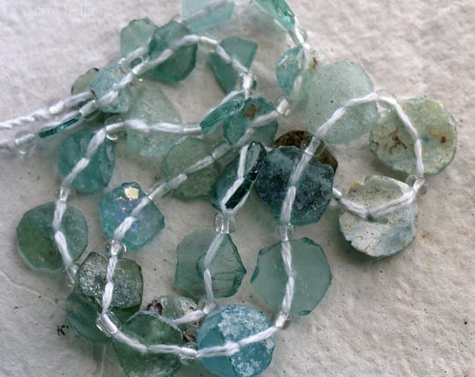 ANCIENT ROMAN GLASS No. 288 .. Genuine Antique Roman Glass Fragment Beads (rg-288)