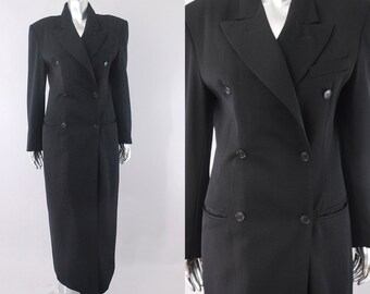 vintage Norma Kamali coat  | vintage 1980s wool coat | vintage 80s coat