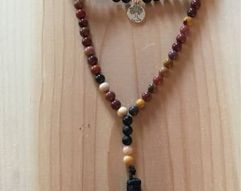 Fall colors necklace