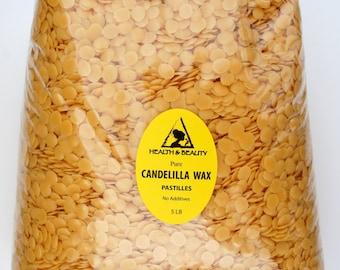 5 Lb CANDELILLA WAX Flakes Organic VEGAN Pastilles Beards Premium Prime Grade A 100% Pure