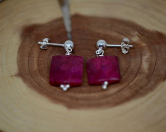 Ruby Stud Earrings/Ruby Studs/Ruby Jewelry/Valentine's Day Gift/Mother's Day Gift
