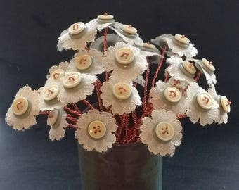 Beautiful Button Flower Bouquet