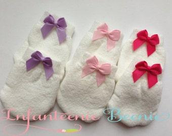 newborn mitten set, baby mittens, no scratch mittens, ready to ship, mittens for baby girls, pink mittens, newborn girl, mitten set
